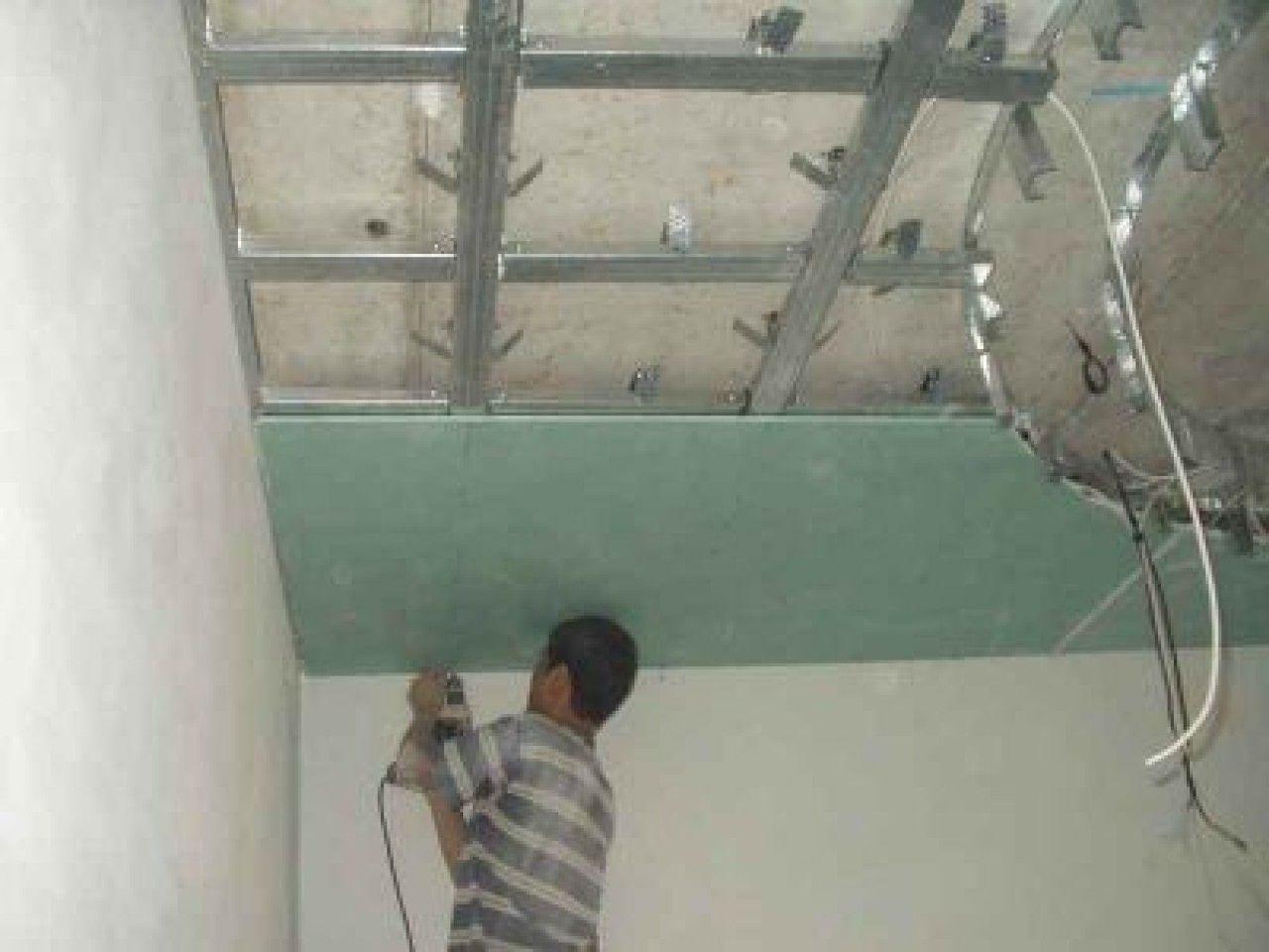 Потолок из ГВЛ, сделанный своими руками 34